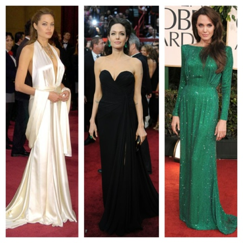 Angelina Jolie formal evening dresses