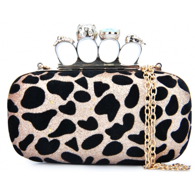 Gold Leopard Party Clutch