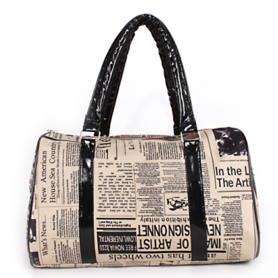 New British Newspaper Travel Unique Women Two Way Casual Big Bag