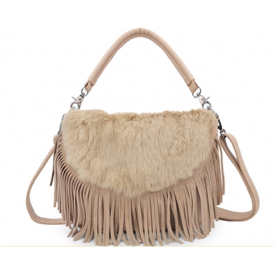 Cony hair Tassel Shoulder Bag/Handbag