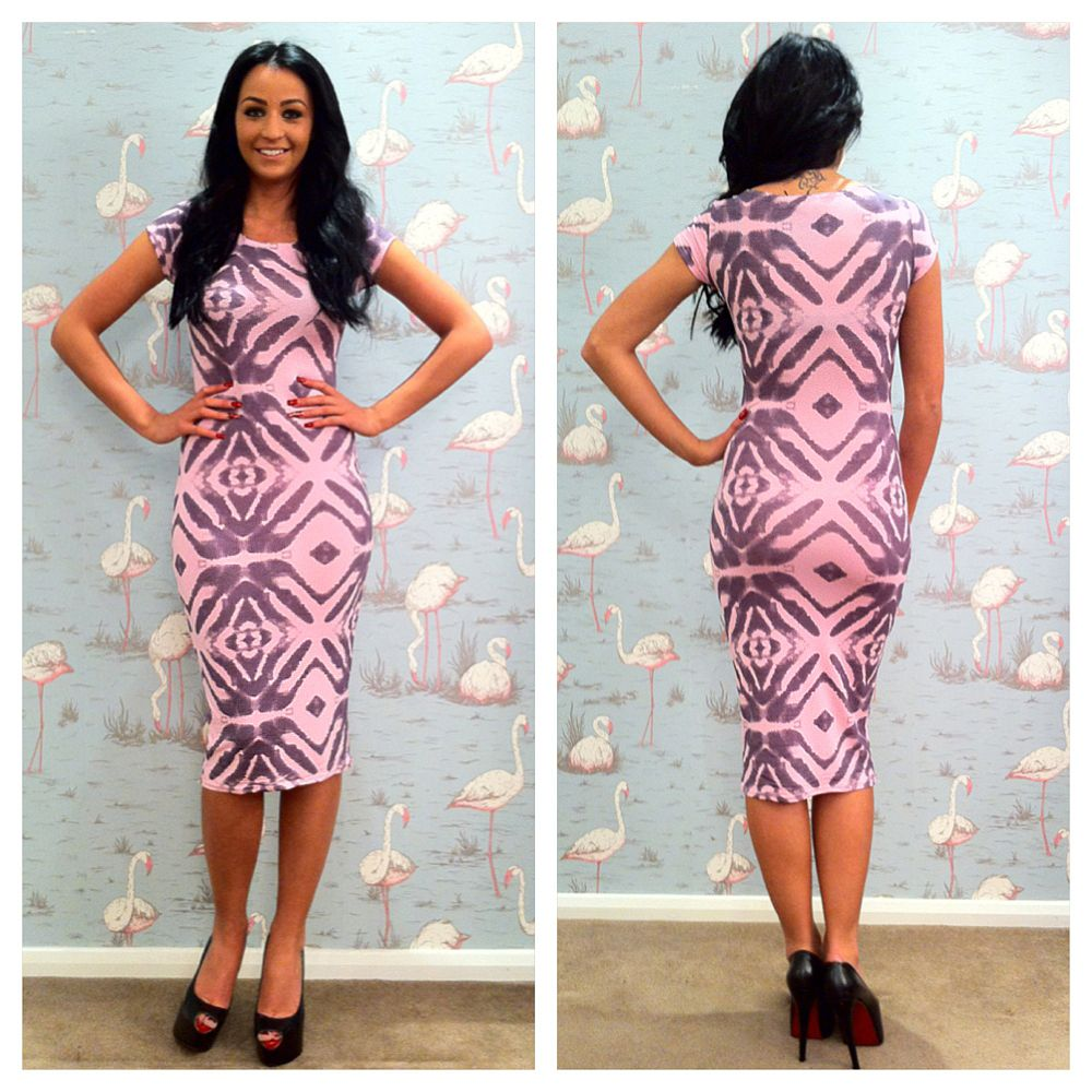 pastel-pink-tribal-print-dress