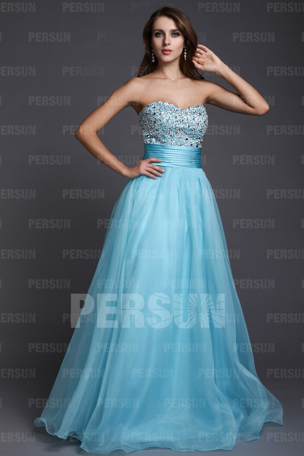 Beaded Sweetheart Tulle Ball Gown Formal Dress