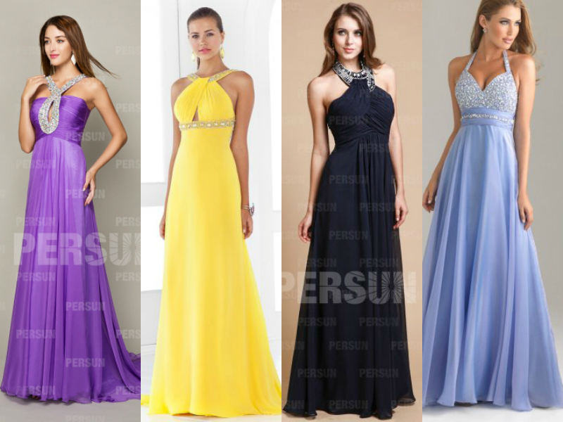 halter formal evening dresses