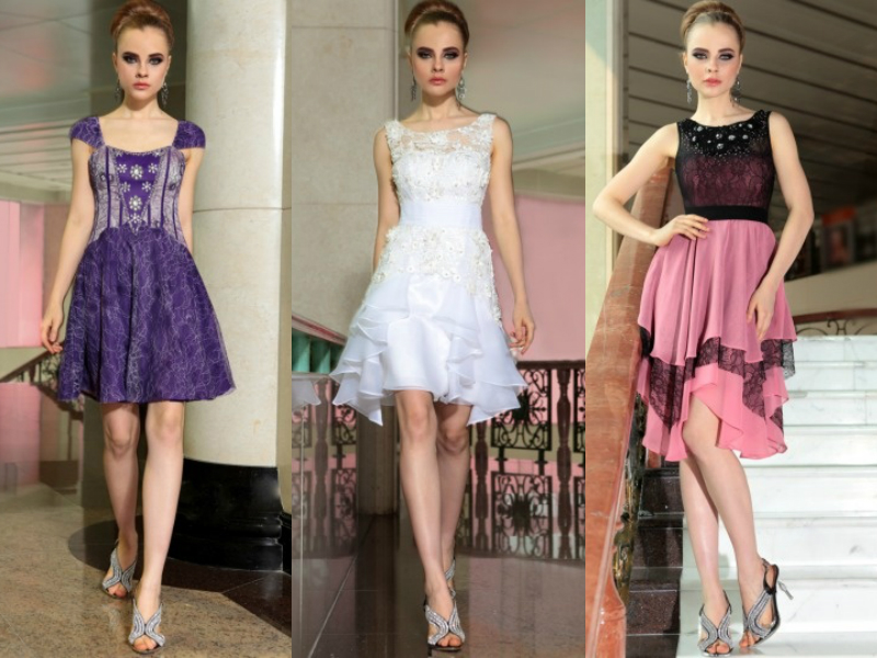 lace short formal dresses
