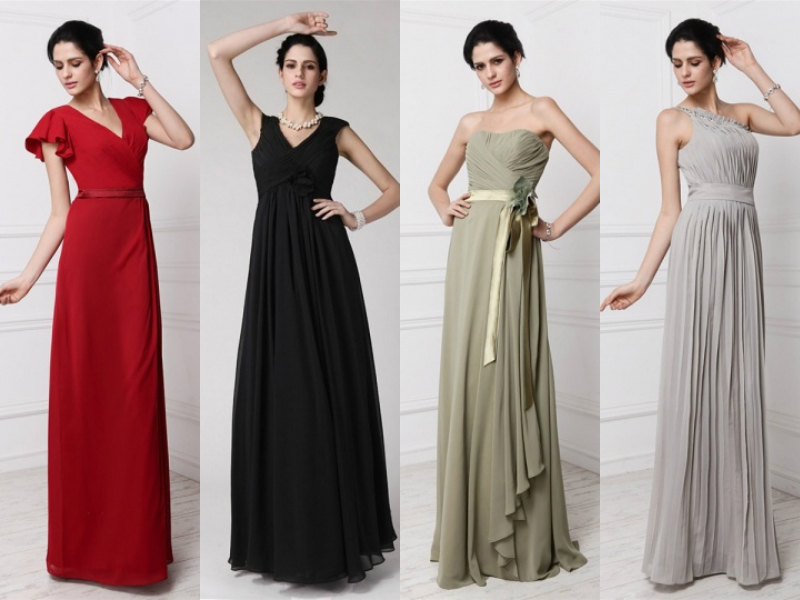 long chiffon bridesmaids dresses