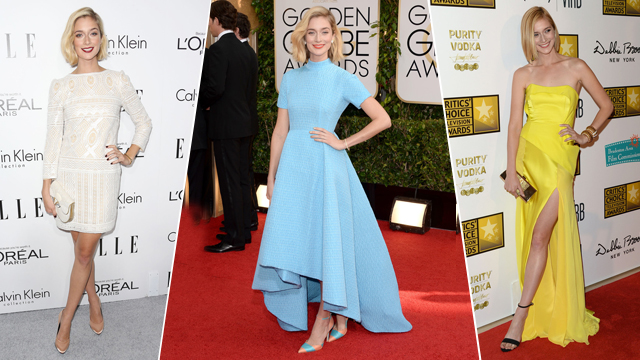 Caitlin Fitzgerald red carpet dresses