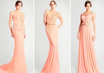 elegant pink formal dresses