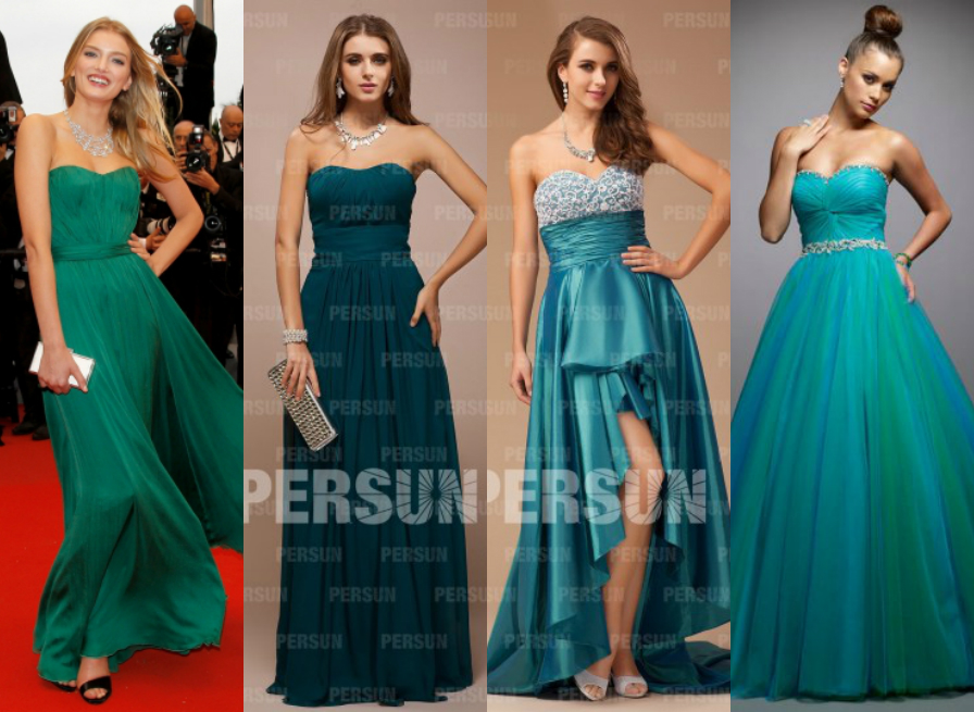 green formal dresses