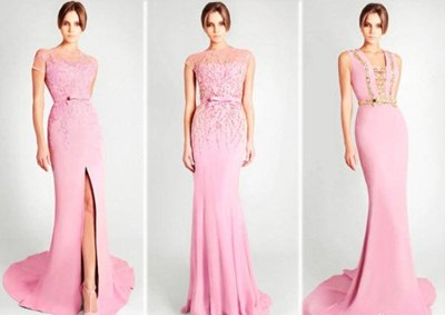 noble pink formal dresses