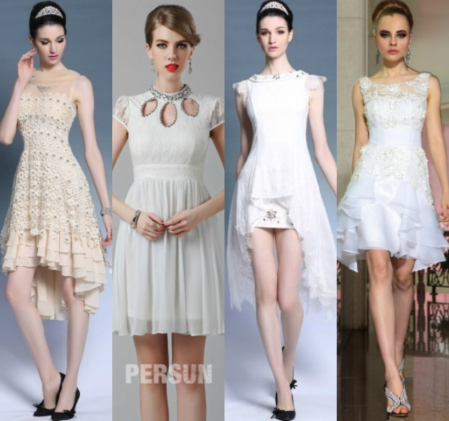 white lace short cocktail dresses