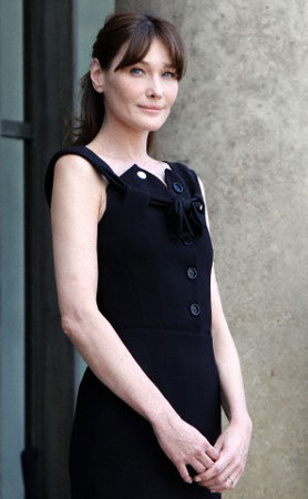 Carla Bruni's black dress