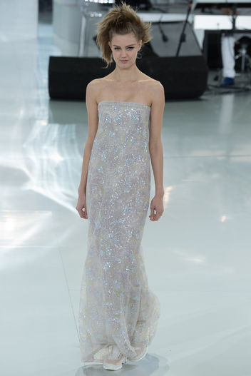 Chanel spring and summer series transparent dress