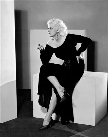 Jean Harlow's black dress