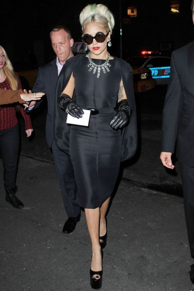 Lady Gaga's black dress
