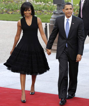 Michelle Obama's black lace dress