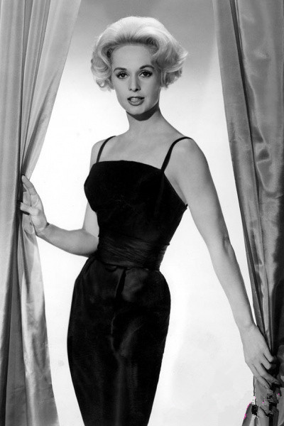 Tippi Hedren's black dress