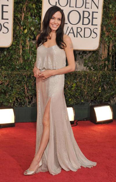 gray long Versace dress