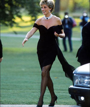 princess-diana's black dress