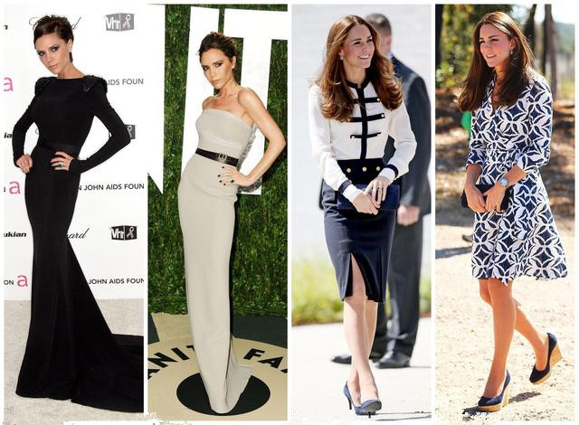 Victoria and kate's fashion look