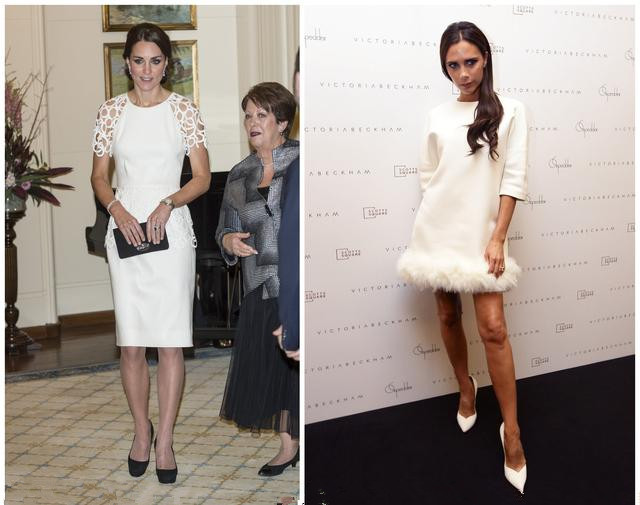 Victoria and kate's white dress