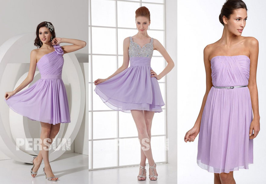 cheap light purple short formal dress
