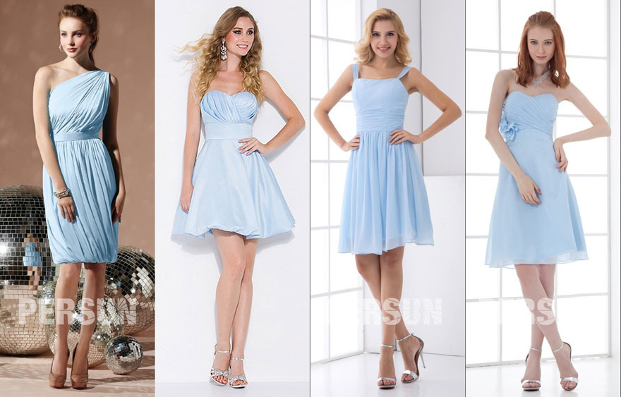 sky blue semi-formal dresses