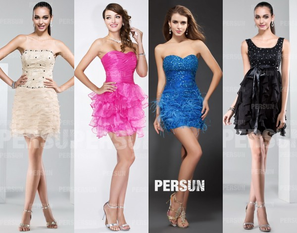 short evening dresses