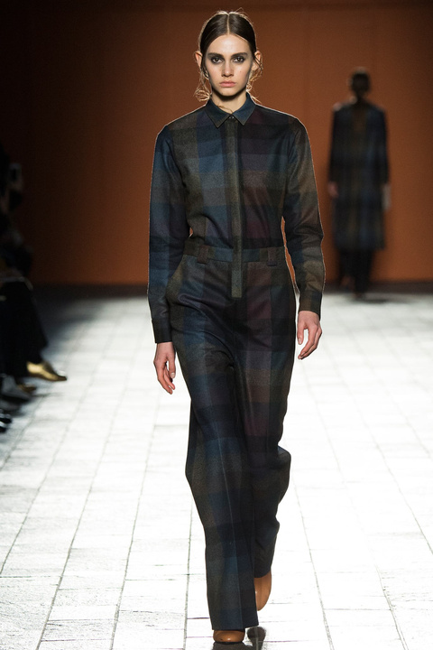 Grid jumpsuits