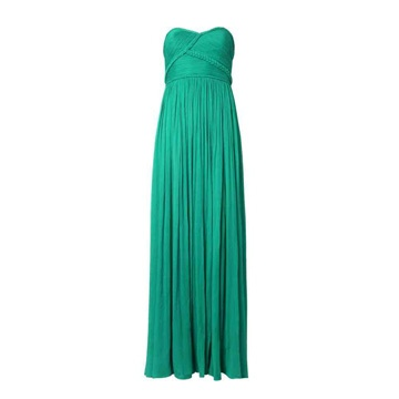 Mango green long evening dress