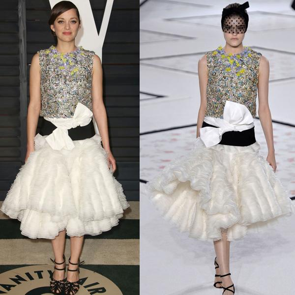 Marion Cotillard's Giambattista Valli chic a little color block dress