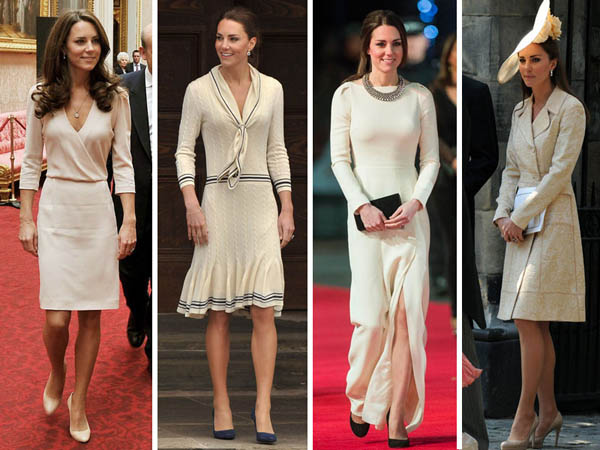 Princess Kate's beige dress