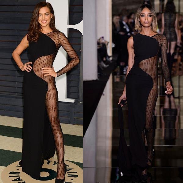 Sister Kim's Atelier Versace black sexy evening dress