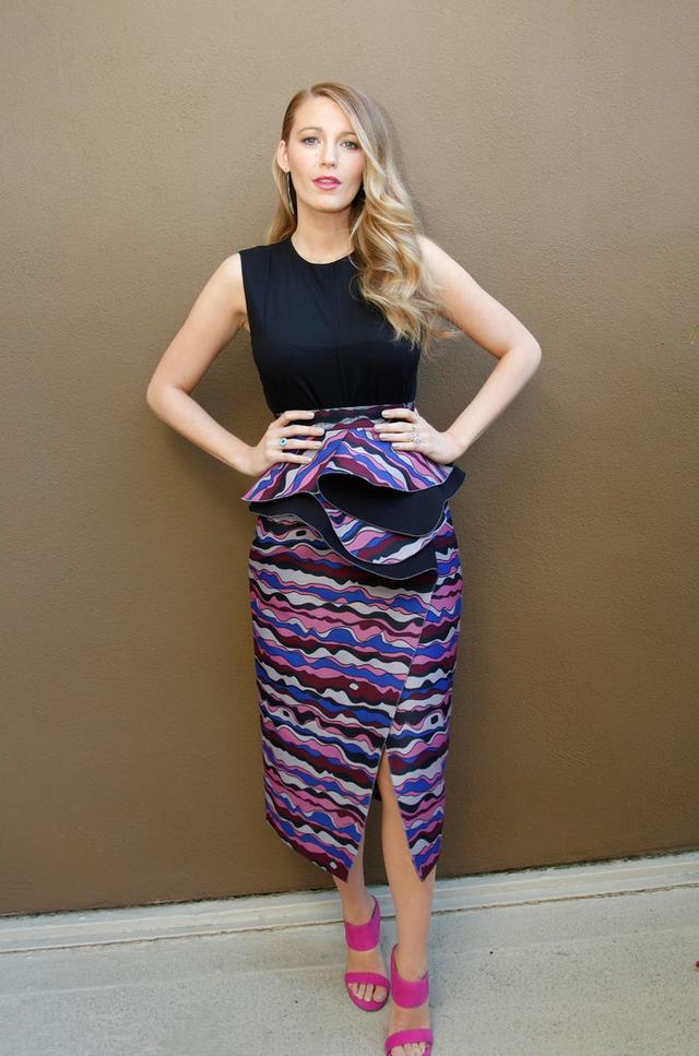 Blake Lively's Roksanda llincic skirt