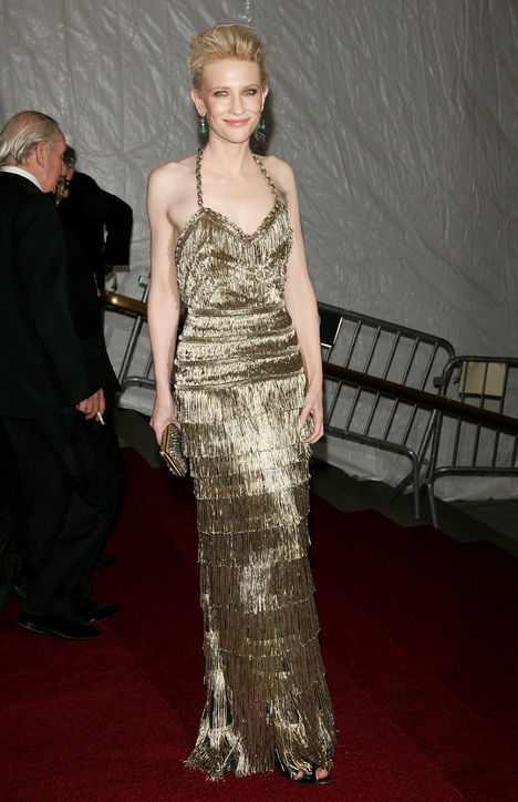 In 2007, the New York Metropolitan Costume Institute Gala, Balenciaga metallic sequined dress