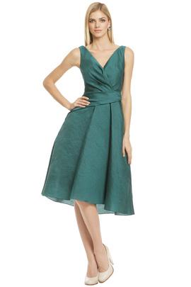 Lela Rose green cocktail dress