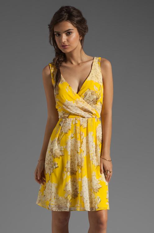 Trina Turk yellow dress