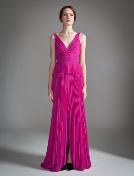 Temperley fuschia evening gown dress
