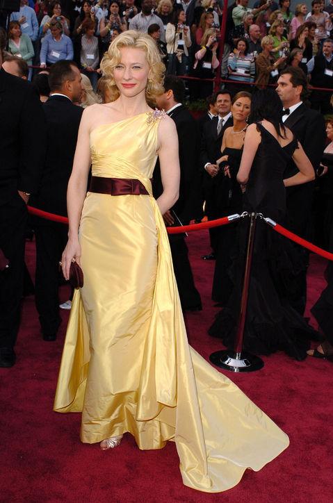 Valentino yellow one shoulder irregular formal dress