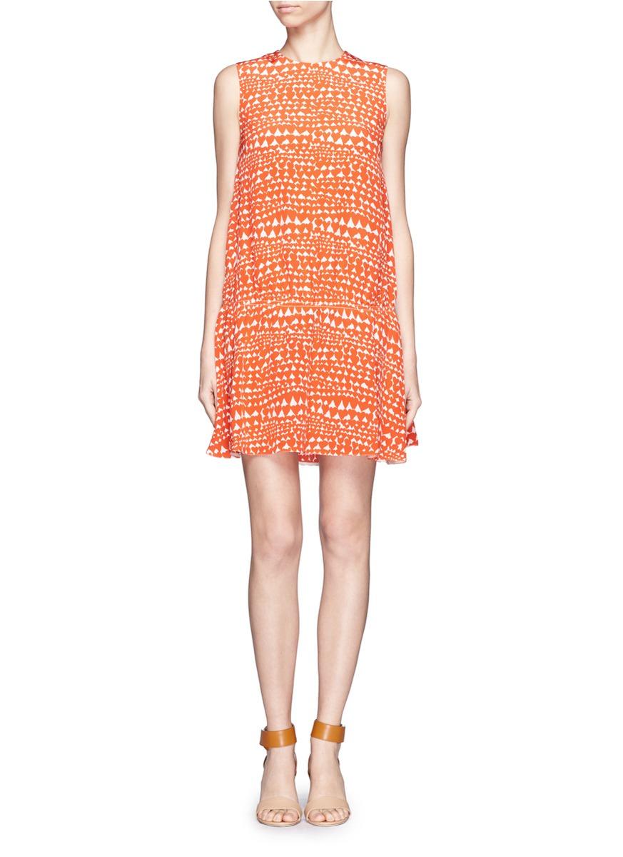 coral red short formal dress