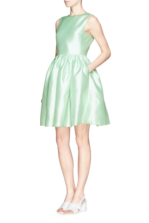 simple green formal dress
