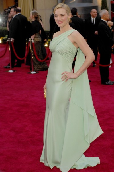 Kate Winslet's green red carpet dress